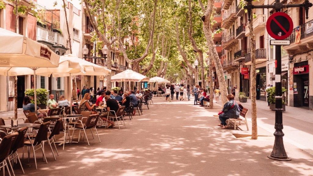 rambla del poblenou barcelona