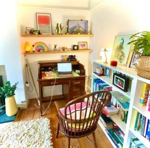 My writing desk in winter