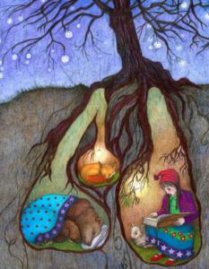 Jessica Boehmann hibernation illustration